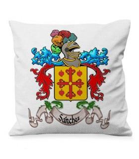 Almofada personalizada com o Escudo Heráldico 1 Apelido (COLORIDO)