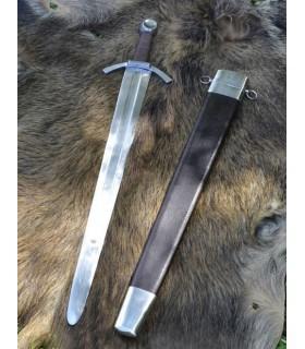 Espada medieval de uma mão, folha larga