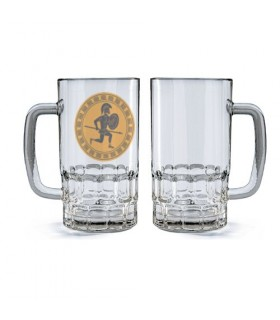 Jarro de Cerveja Cristal Guerreiro Hoplita Grego