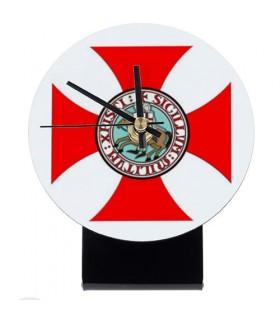 Relógio de mesa Cavaleiros Templários (12x14,5 cms.)