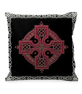 Almofada com o símbolo da Cruz Celta