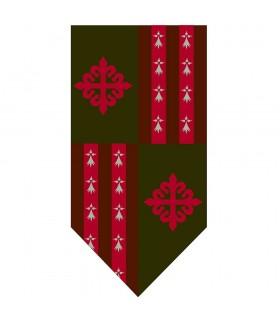 Estandarte Cuartelado Cruz da Ordem de Alcántara