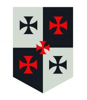 Estandarte Cuartelado Cruzes Templarias