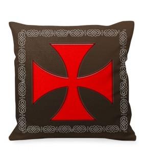 Almofada Cruz de Malta Cavaleiros Templários