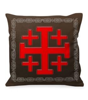 Almofada Cruz de Jerusalém Cavaleiros Templários