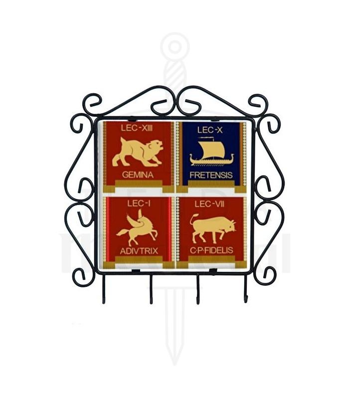 Cabide de chaves com símbolos das Legiões Romanas