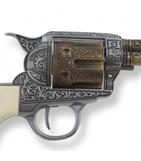 Revólver Colt 45 PeaceMaker apertos búfalo, 27 cms.