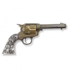 Revólver Colt 45 PeaceMaker curto apertos metal, 27 cms.