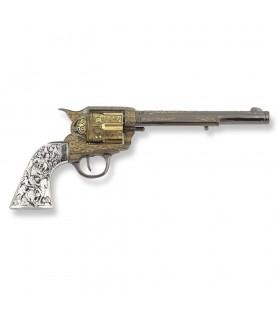 Revólver Colt 45 PeaceMaker longo apertos metal, 27 cms.