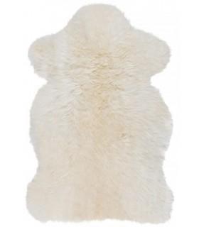 Pele de cordeiro branca