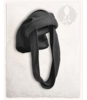 Gorro Medieval Rafael em preto, Unisex