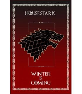 Estandarte Jogo de Tronos House Stark (75x115 cms.)