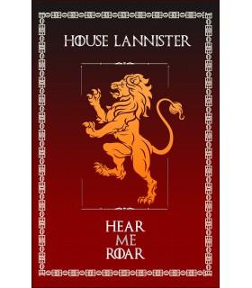 Estandarte Jogo de Tronos House Lannister (75x115 cms.)