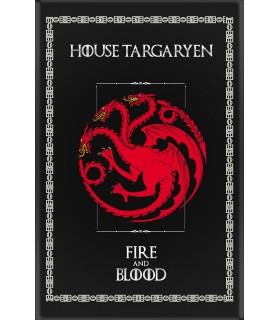Estandarte Jogo de Tronos House Targaryen (75x115 cms.)
