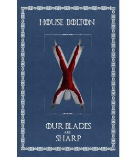 Estandarte Jogo de Tronos House Bolton (75x115 cms.)
