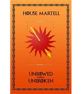 Estandarte Jogo de Tronos House Martell (75x115 cms.)