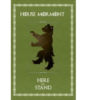Estandarte Jogo de Tronos House Mormont (75x115 cms.)