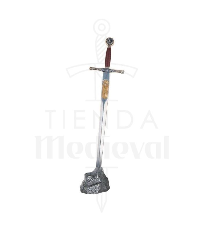 Expositor pedra prateada mini Excalibur