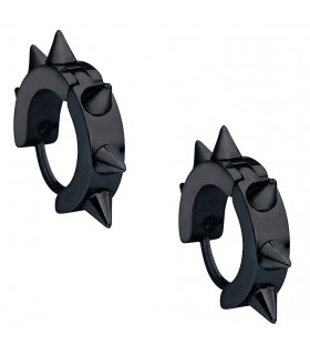 Brincos góticos espinhos negros