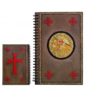 Agenda notas com o selo dos Cavaleiros Templários