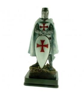 Miniatura Cavaleiro Templário com Escudo, 23 cms.