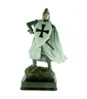 Miniatura Cavaleiro Guerreiro Teutonic com Escudo, 23 cms.