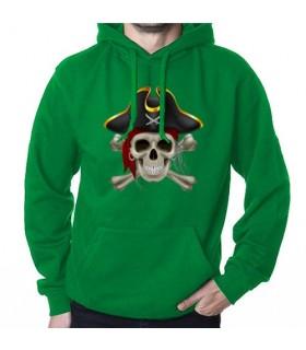 Moletom Pirata Verde, com Capuz