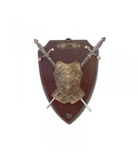 Seleção com espadas e peitoral
