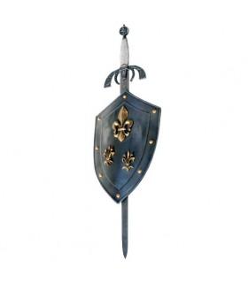 Escudo Flor de Lys com espada