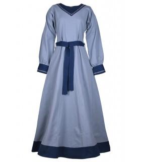 Vestido de viking Jona, azul