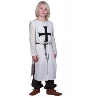 Tabardo criança Teutonic, branco natural