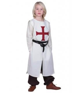 Tabardo criança Templário, branco natural