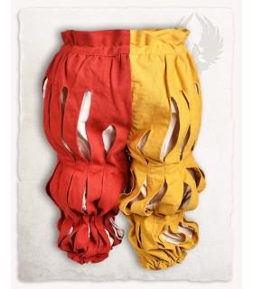 Calça Mercenário Lansquenete, vermelho-amarelo