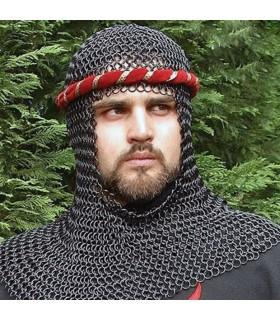 Coifa medieval aço preto