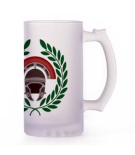 Jarro de Cerveja Centurião Romano, vidro translúcido