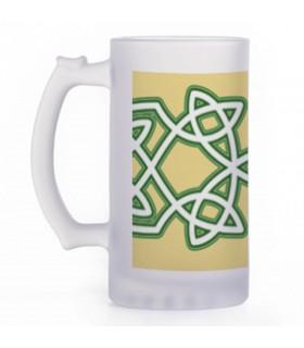 Jarro de Cerveja Nós Celtas, vidro translúcido