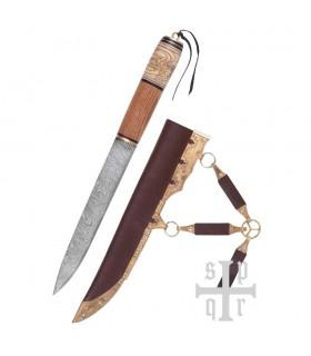 Faca Viking, Aço de Damasco