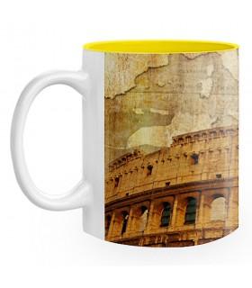 Caneca de Cerâmica Coliseu Romano