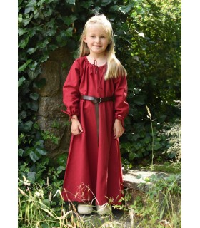 Vestido de viking vermelho Ana, menina