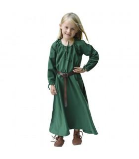 Vestido de viking verde Ana, menina