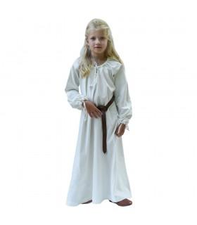 Vestido de viking branco Ana, menina