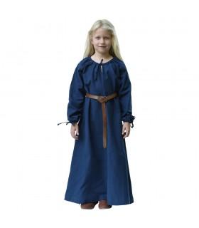 Vestido de viking azul Ana, menina