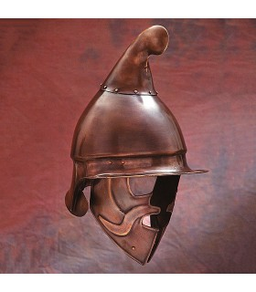 Capacete Hoplita Ateniense acabamento bronze