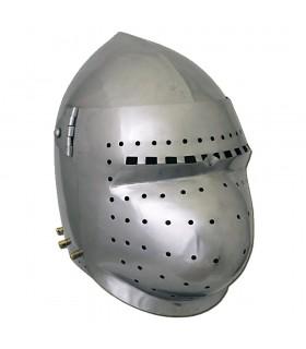 Bacinete Battle-Ready com viseira, aço 2 mm