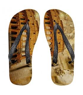 Sandálias verão Imperador Romano junto ao Coliseu