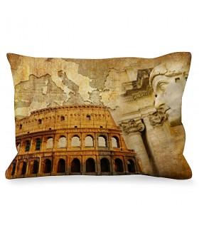 Almofada Retangular Imperador Romano junto ao Coliseu