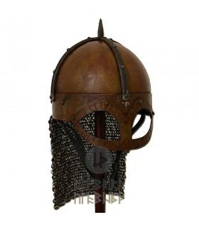 Capacete Viking Gjermundbu com a cota de malha, Batalha-Ready