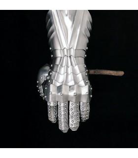 Manoplas rebitados, aço 1,3 mm.