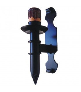 Aplique vela forjamento medieval 1 luz (29x12 cms.)