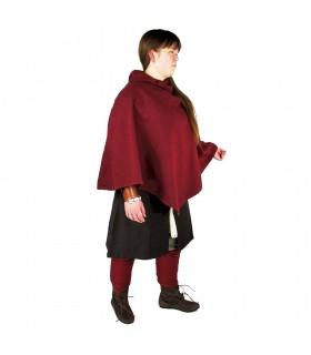 Gugel viking Egill, lã vermelha